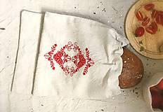 Podšité vrecúško na chlebík z ľanového plátna