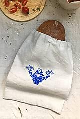 - Podšité vrecko na chlieb a pečivo z ľanového plátna - 8339760_