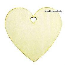 Polotovary - Drevené srdce 10 cm - 8340739_