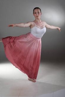 Sukne - Dívčí půvab - dlouhá hedvábná sukně - 8339218_