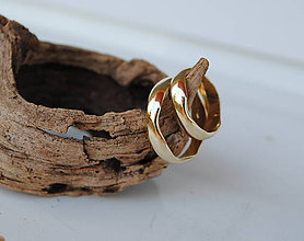 """Prstene - Obrúčky """"plynutie v harmónii"""" zlaté - 8343335_"""