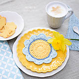Úžitkový textil - Podložka pod šálku, čajník či kvetináčik ...  slnko a nebo - 8344789_