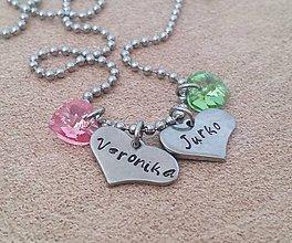 Náhrdelníky - náhrdelník srdiečka 2 - 8343960_