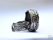Prstene - Strieborné unikátne odlievané obrúčky - Šum prírody - 8343394_