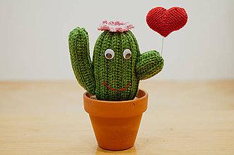 Dekorácie - Zamilovaný kaktus - 8343543_