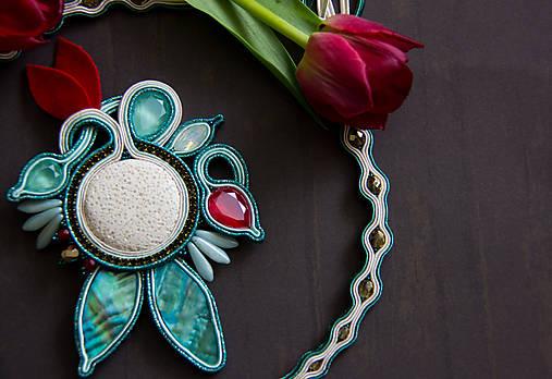 1f559c1c7 Mentolovo-smaragdový náhrdelník / bazu - SAShE.sk - Handmade Náhrdelníky