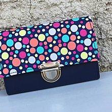 Peňaženky - Puntíky na modré - peněženka - 8342952_