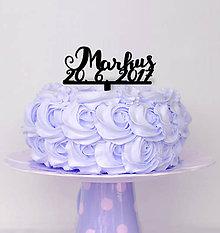 Dekorácie - Zápich na tortu na krstiny (Strieborná) - 8343591_