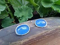 Náušnice - Nebesky modrá - 8343853_