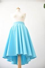 Sukne - tyrkysová asymetrická kruhová sukňa - 8344594_