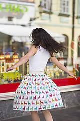 nariasená sukňa