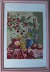 zátišie s vínkom_vyšívaný obraz