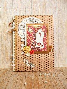 Papiernictvo - Svadobná kniha hostí - Zaľúbení - 8343451_