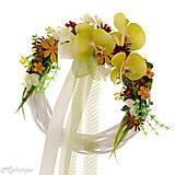 Dekorácie - Venček na dvere s orchideou - 8344675_