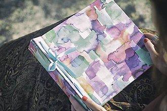 Papiernictvo - Fotoalbum klasický, papierový obal s abstraktnu potlačou - 8343525_