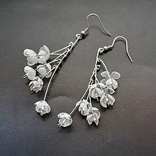 Náušnice - Recy náušnice kaskáda kvetov - 8344413_