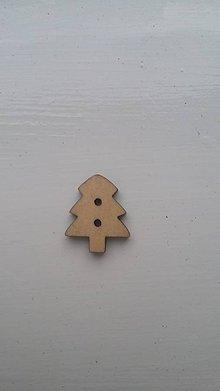 Galantéria - G115 Gombík drevený (stromček 1,8 x 1,5) - 8343009_