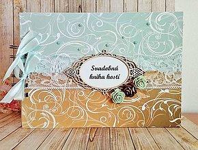 Papiernictvo - svadobná kniha hostí Elegant - 8343109_