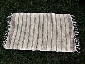 Úžitkový textil - Tkaný maslovo-hnedý koberec 2 - 8342782_