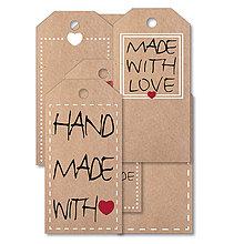 Papiernictvo - Dizajnové etikety - prírodné - 8346138_
