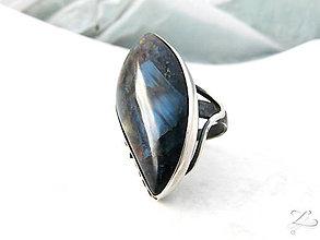 Prstene - ZĽAVA-Strieborný unikátny prsteň s pietersitom - Line-Pietersit - 8346083_