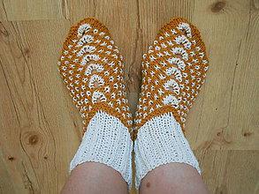 Obuv - Pletené ponožko-papučky - 8346416_