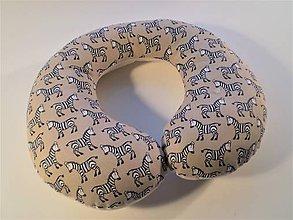 Textil - Cestovný vankúš od 4 rokov- zebry - 8347090_