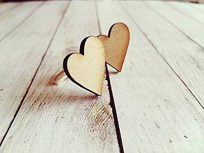 Šperky - Manžetové gombíky simple heart - 8345280_