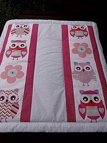 Textil - DĚTSKÁ PATCHWORKOVÁ DEKA ...sovičky - 8346638_