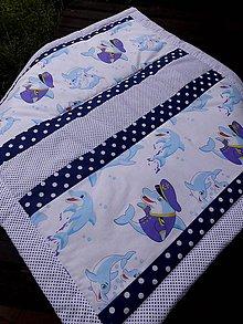 Textil - DĚTSKÁ PATCHWORKOVÁ DEKA ...delfínci - 8346646_