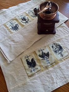 Úžitkový textil - Vidiecka ľanová utierka - 8345405_