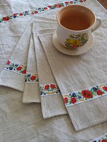 Úžitkový textil - Vidiecka ľanová sada - 8345425_
