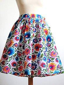 Sukne - zavinovacia folk sukňa pestrofarebná - 8345618_