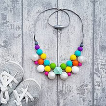 Náhrdelníky - Silikónový náhrdelník na kojenie \