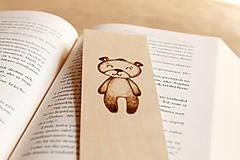 """Papiernictvo - Drevená záložka do knihy """"Môj macko"""" - 8346345_"""