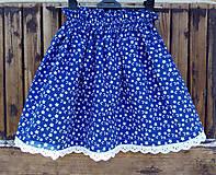 Detské oblečenie - Sukňa modrotlač (140-160) - 8346172_