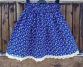 Detské oblečenie - Sukňa modrotlač - 8346172_