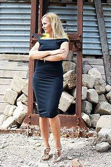 Šaty - Midi šaty odhalujúce ramená - 8345791_