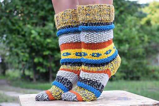 b1cb36213 Farebné ponožky (v.37-39) / Eva64 - SAShE.sk - Handmade Obuv