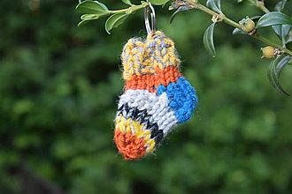 Kľúčenky - prívesok ponožka - 8347501_