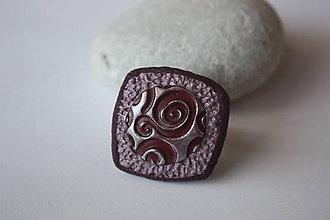 Prstene - Antická bordová prsteň - 8346276_