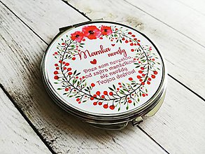 Darčeky pre svadobčanov - Svadobné zrkadielko :) - 8348877_