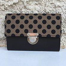 Peňaženky - Puntíky na hnědé - peněženka - 8349248_