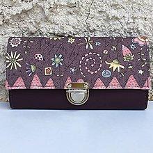 Peňaženky - Zahrada fialová - peněženka - 8349339_
