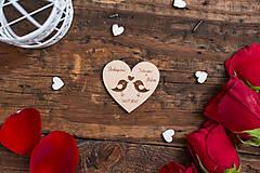Darčeky pre svadobčanov - Srdce 2 BB - 8349065_