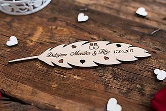 Darčeky pre svadobčanov - Pierko 2 BB - 8348994_