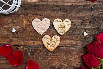 Darčeky pre svadobčanov - Srdce 1 BB - 8349059_