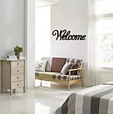 Tabuľky - Nápis na stenu Welcome - 8347826_