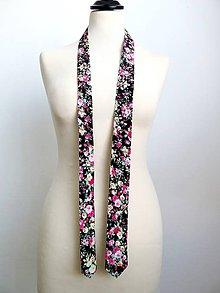 Doplnky - kvietkovaná kravata - 8348615_