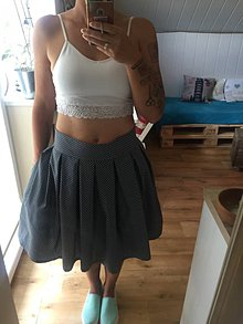 Sukne - Skladaná sukienka - 8349524_